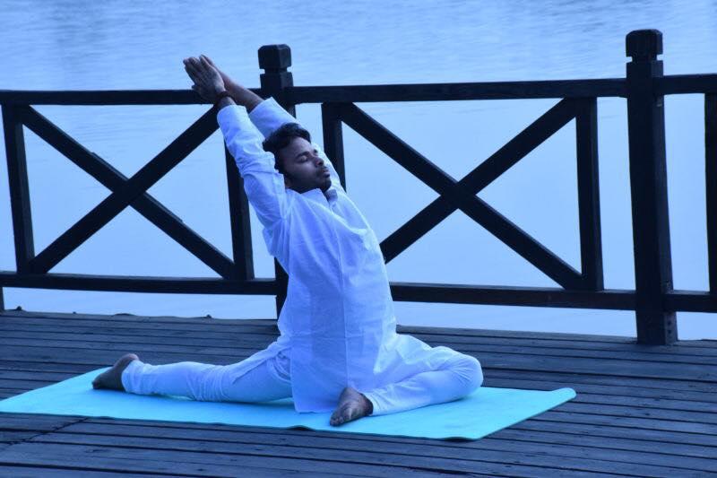 Yoga Pose By yoga Teacher