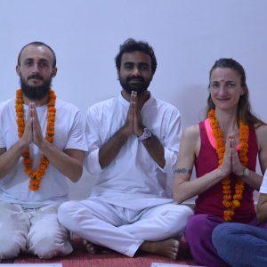 Student With Yoga Teacher